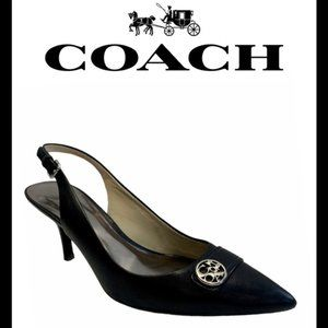 Coach Black Zhane Semi Matte Formal heels size 7